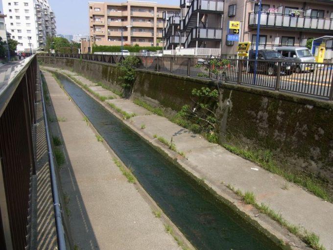 三面コンクリ張り都市河川の神田川