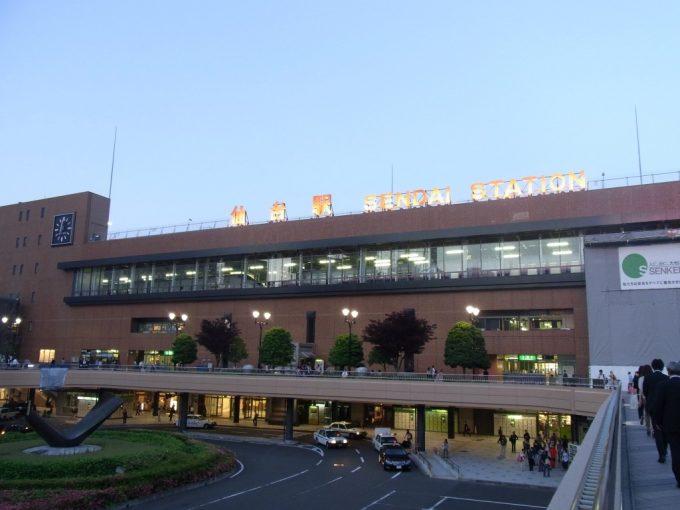 夕暮れの仙台駅