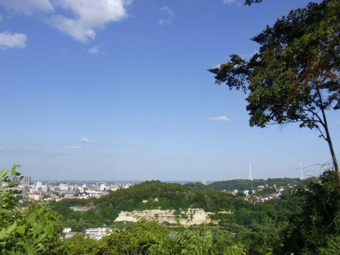 青葉城跡から見下ろす仙台城下