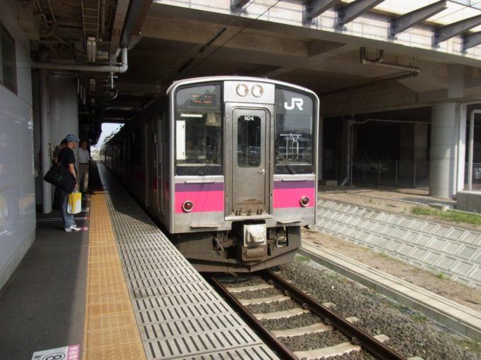 新青森駅で奥羽本線に乗り換え一路弘前へ