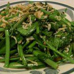 空芯菜のじゃこ炒め・豆腐とささみのピリゴマサラダ・さばの味噌煮