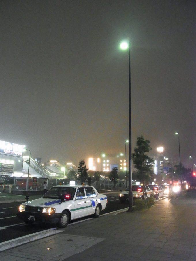 夜霧にけむる夏の仙台の街