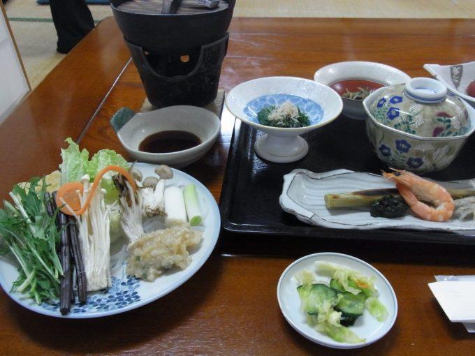 夏油温泉夕食