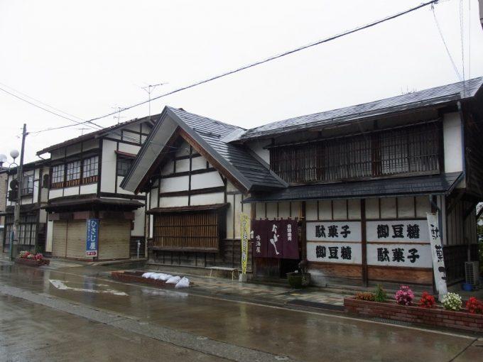 雨の喜多方会津らしい建築様式