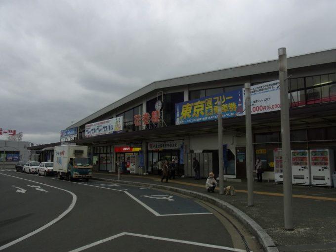 曇天の花巻駅