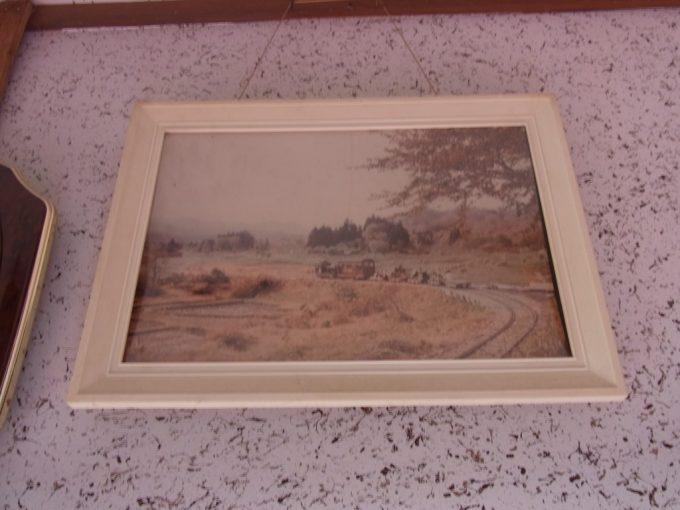 夏油温泉に飾られた夏油森林鉄道写真