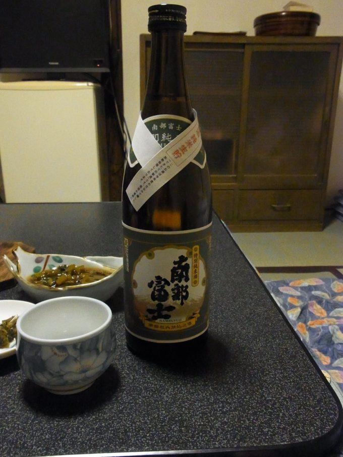 大沢温泉自炊湯治のお供に南部富士特別純米酒