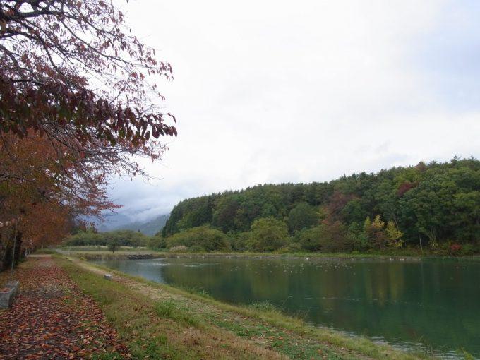 道の駅喜多の郷八方池秋景色
