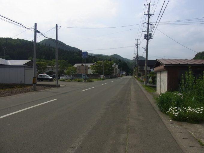 大沢温泉前の花巻電鉄廃線跡
