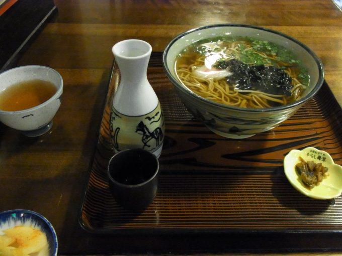 大沢温泉自炊部食堂やはぎ田舎そばのかけ