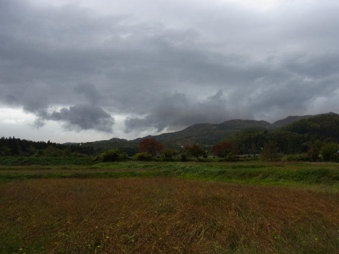 秋の会津のどかな景色