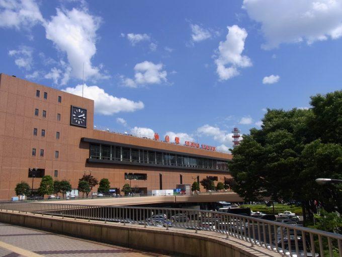 夏空の仙台駅