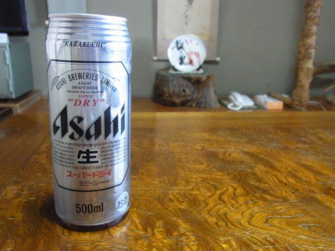 青森嶽温泉小島旅館湯上がりのビール
