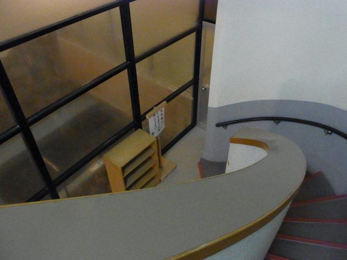 大沢温泉自炊部薬師の湯昭和モダンな階段