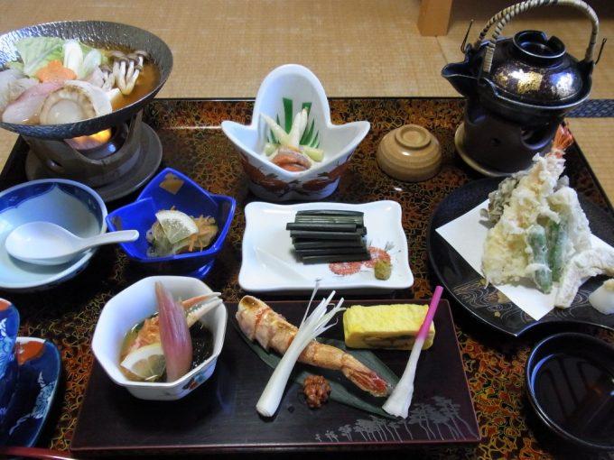 青森嶽温泉小島旅館夕食