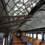 日中線記念館旧熱塩駅旧型客車の網棚