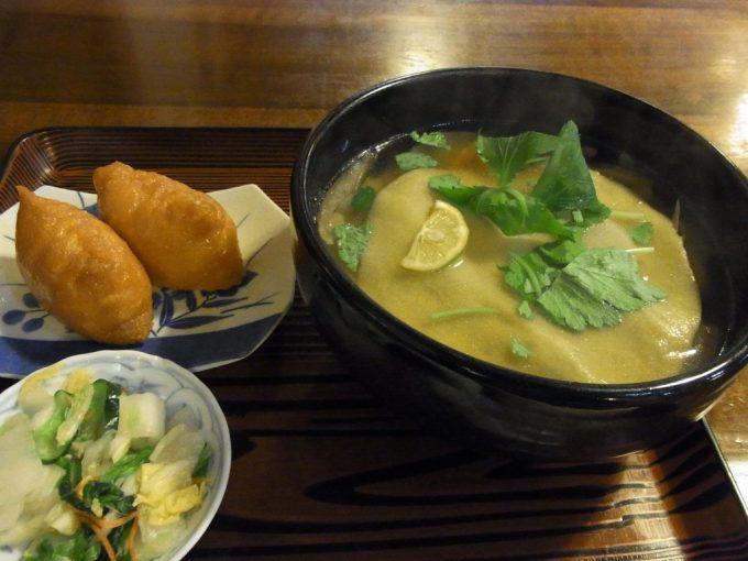 大沢温泉湯治屋食堂やはぎ郷土料理ひっつみセット