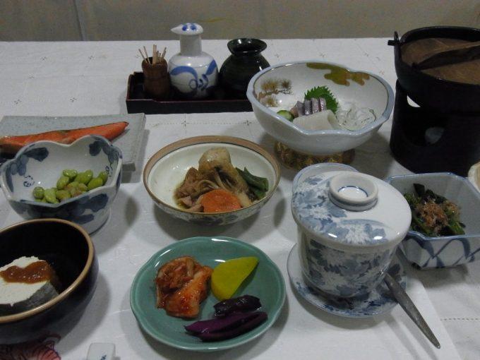 会津喜多方熱塩温泉ますや旅館夕食