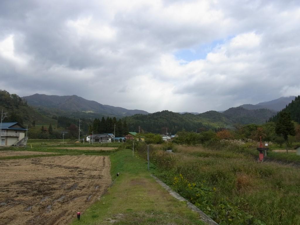 秋の熱塩のどかな田園風景