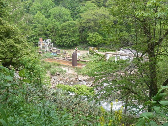 松川地熱発電所蒸気汲み上げ井戸