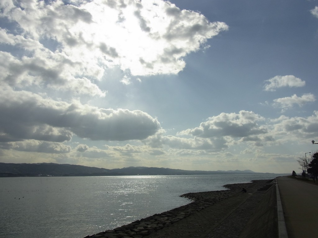 宍道湖冬の輝き