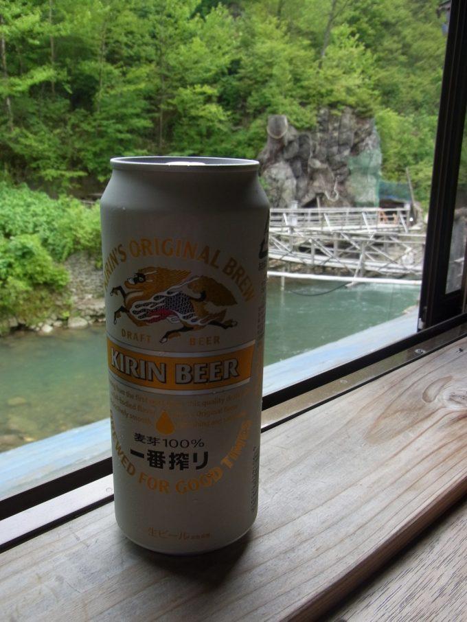 松川温泉松楓荘硫黄の残り香と湯上がりのビール