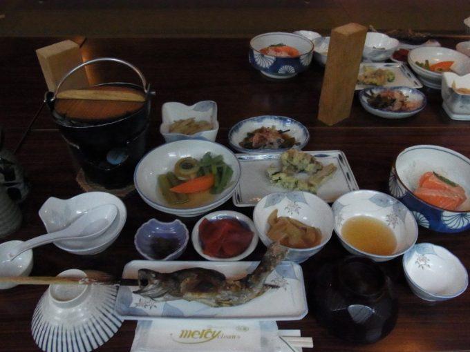 秘湯ランプの宿青荷温泉夕食