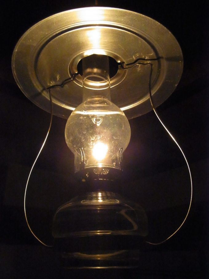 青荷温泉のシンボル輝くランプ