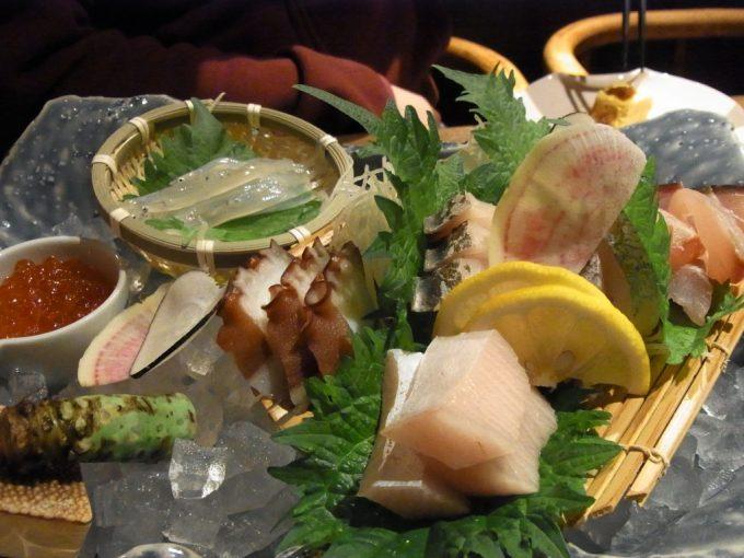 松江てまひま料理根っこや刺身盛り合わせ