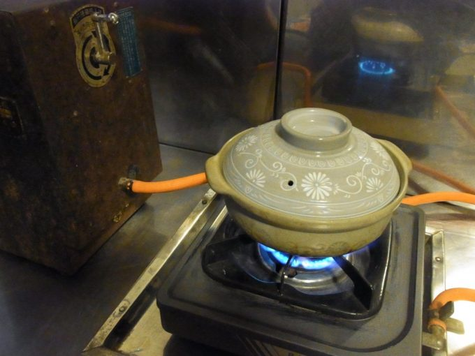 大沢温泉自炊部部屋の10円ガスコンロが大活躍