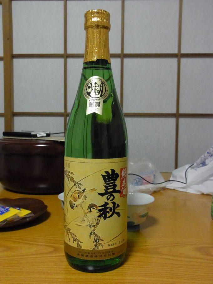 松江の夜に豊の秋純米酒