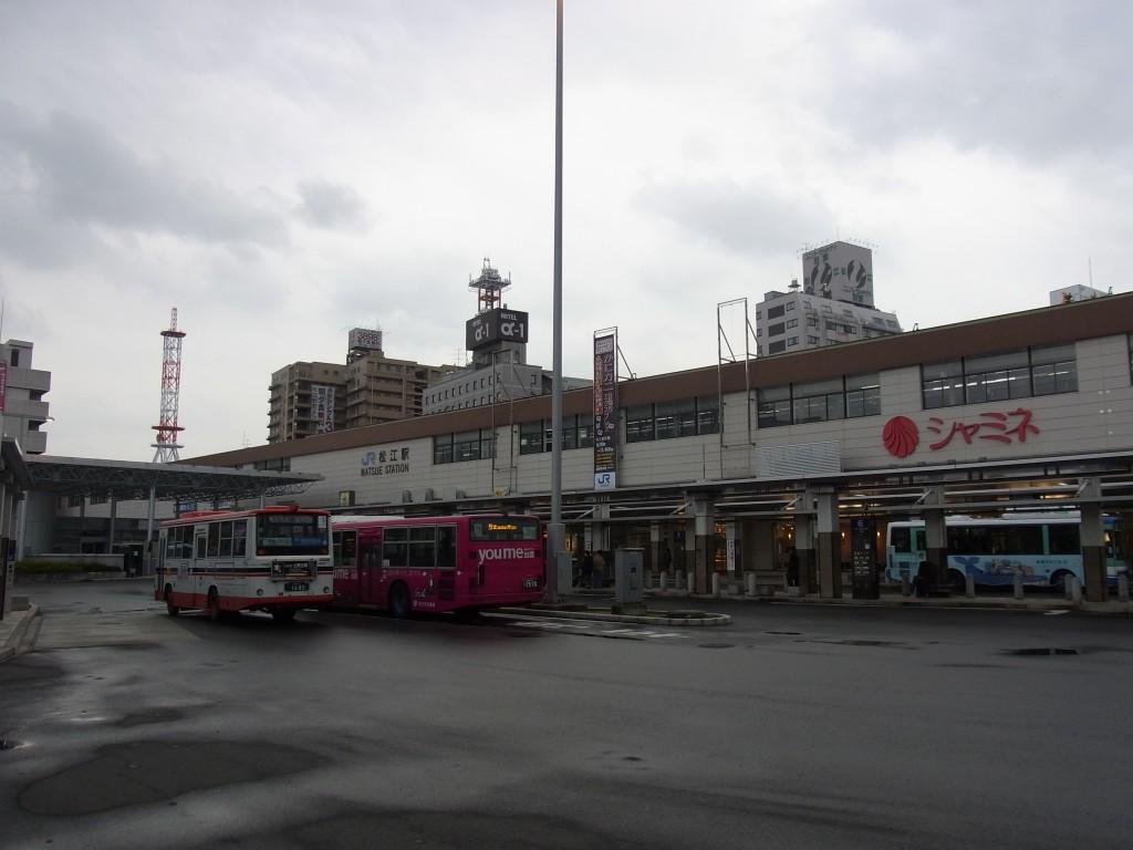 冬の松江駅