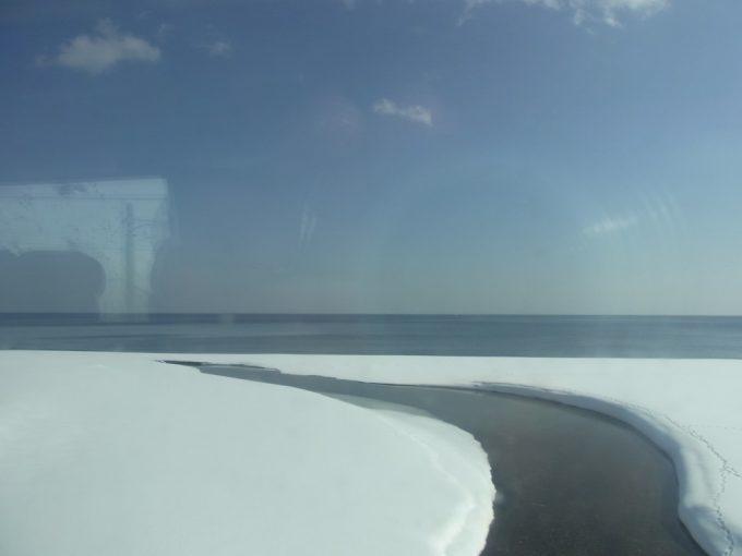 冬晴れの噴火湾