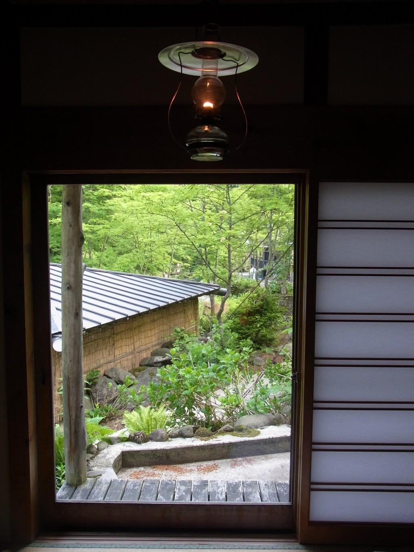秘湯ランプの宿青荷温泉目覚めの朝