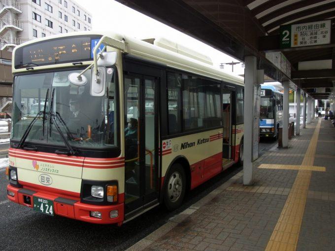 日本交通バス倉吉白壁土蔵群・赤瓦方面