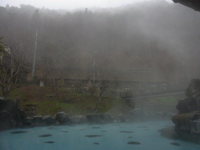 岩手花巻南温泉峡大沢温泉湯にけむる大沢の湯
