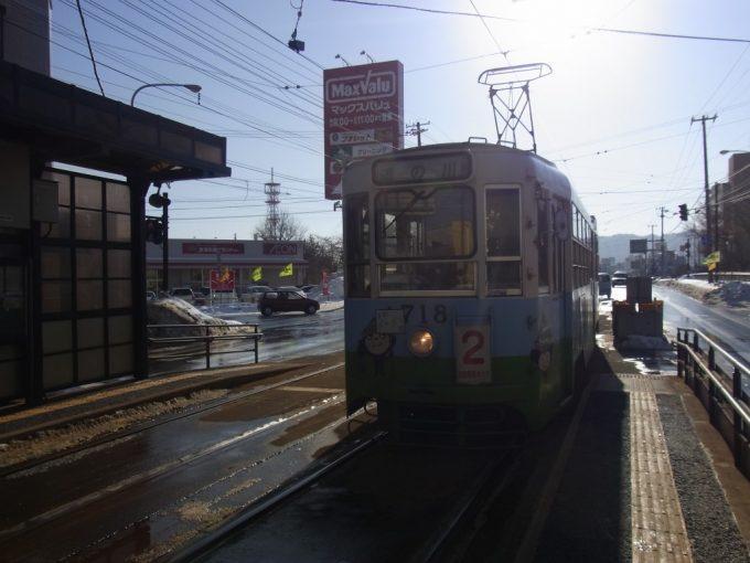 冬の函館市電