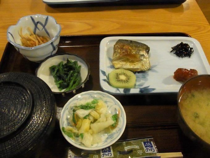大沢温泉食堂やはぎ朝食