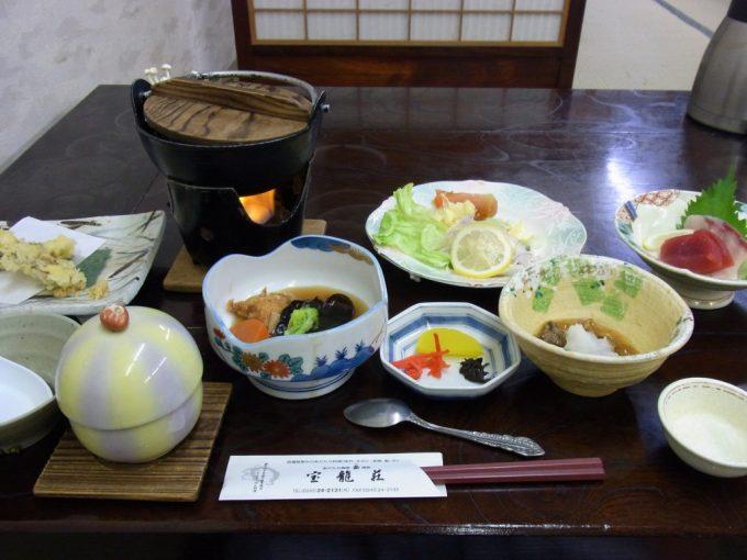福島岳温泉宝龍荘夕食