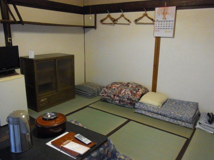 岩手花巻南温泉峡大沢温泉滞在した自炊部屋をきれいに掃除