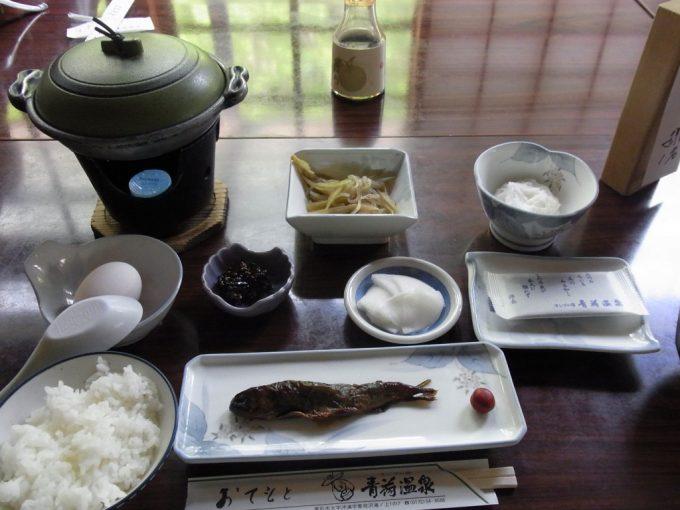 秘湯ランプの宿青荷温泉朝食