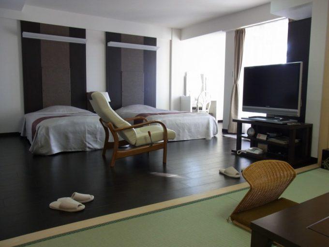 函館湯の川プリンスホテル渚亭街側和洋室