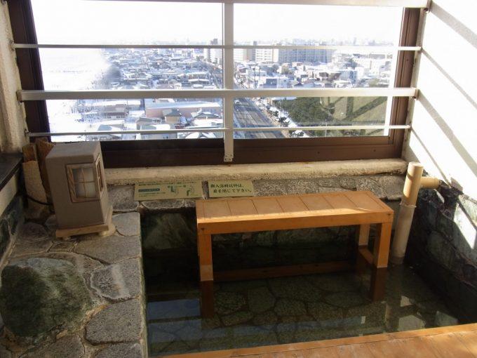 函館湯の川プリンスホテル渚亭街側客室足湯