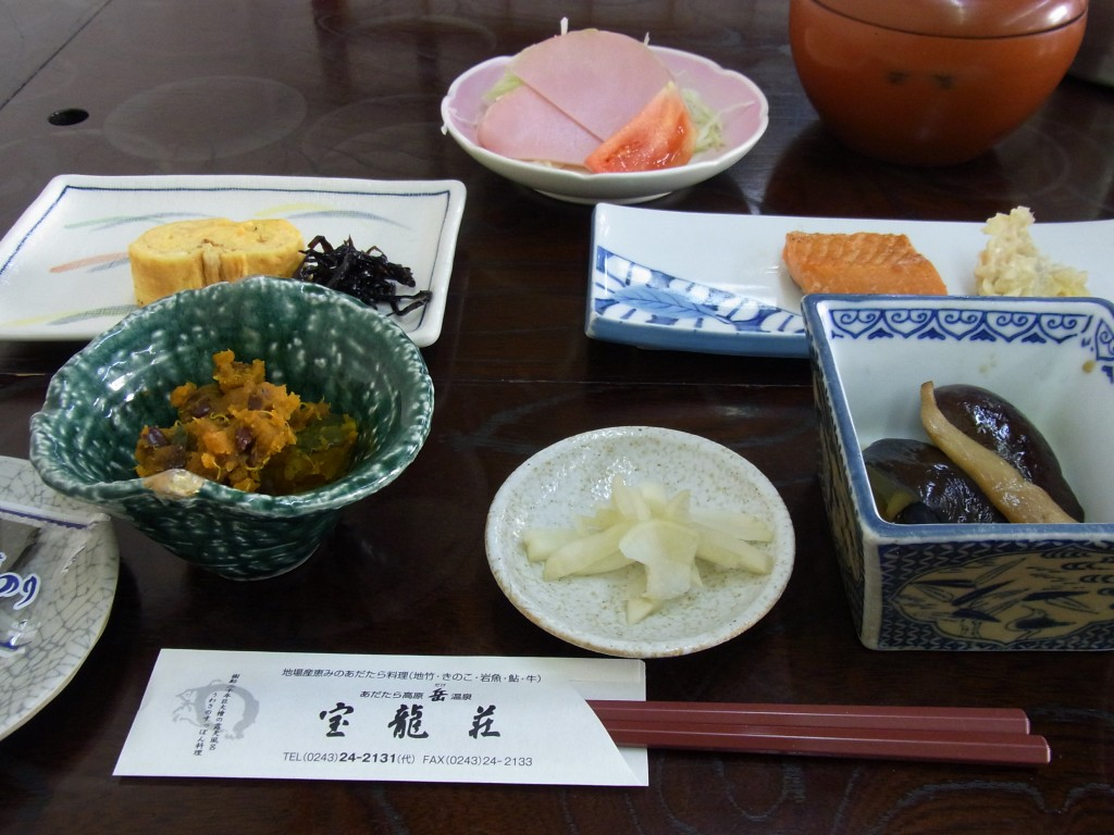 福島岳温泉宝龍荘朝食