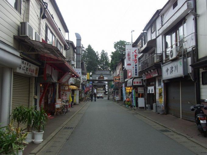 盛岡桜山神社参道の飲食店街