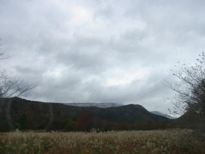 すすきが広がる田沢湖高原の秋景色