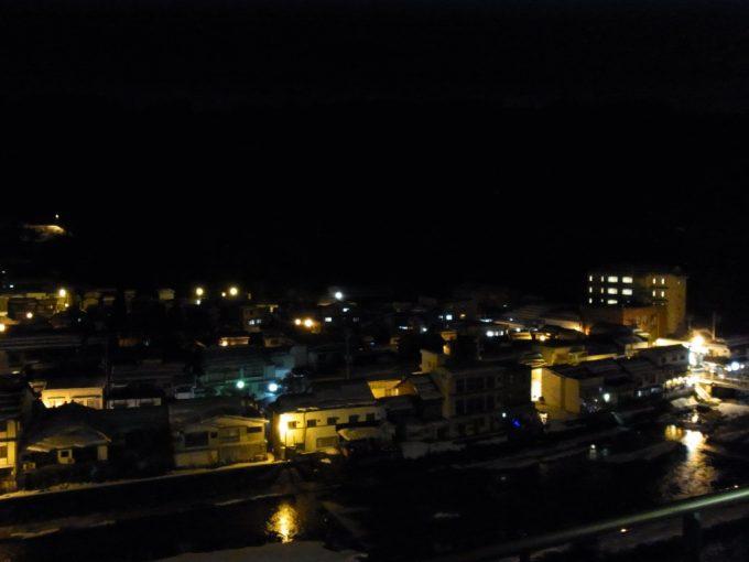 冬の三朝温泉夜景