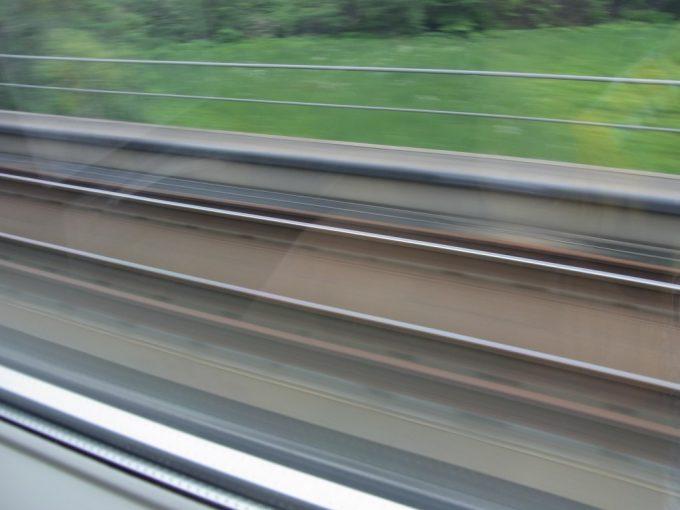 北海道新幹線工事中の津軽海峡線