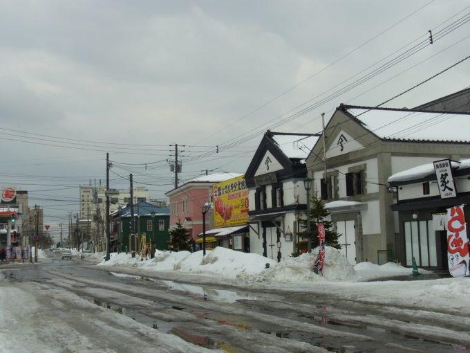函館十字街冬の港町