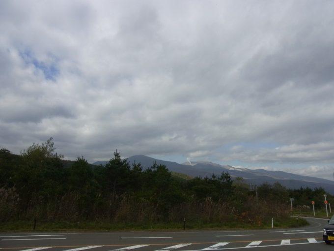道の駅つちゆから吾妻連峰を望む